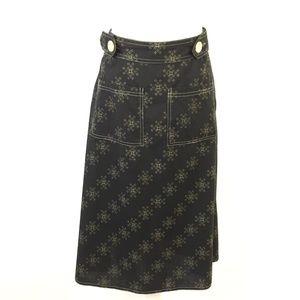 Mon Petit Oiseau Wrap Skirt with Button Closure M